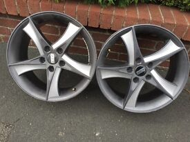 """Mondeo 17"""" 4 x Alloy Wheels rims, 4 secondhand tyres are available if required."""