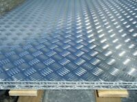 Aluminium Checker/Plain Sheets 3mm/2mm '2500x1250' 8x4