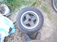 Classic Mini Revolution alloy wheels X 4 with very good continentals