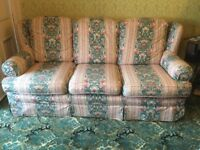 3 Piece Suite fitted with loose covers all in excellent condition
