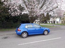 VW Golf GT TDI Mk4 12 months MOT. Just serviced. New tyres, exhaust, alternator, top mounts.
