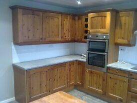 13/14 Kitchen Units in Excellent Condition to include fridge and freezer