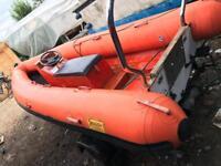 Rib boat with trailer no engine