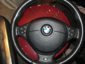 BMW M5 steering wheel with complete airbag