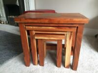 Beautiful Nest Of Solid Wood Coffee Tables