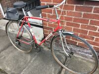 Gents Red Falcon bike - 22in frame