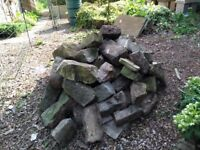 Good quality shaped stone - useful for wall building, rockery etc - FREE