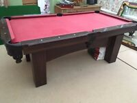Red Pool table, 7x4 foot approx. ideal first table