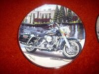 Franklin mint plates , Harley davidson motorcycles