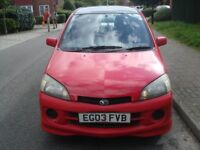 2003, Daihatsu YRV (Red) Hatchback, 48,884 miles, Automatic, 1.3 L, Petrol, Air Condition