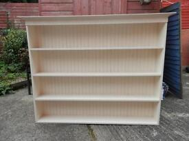 Painted pine shelf unit 5 ft by 4 ft.