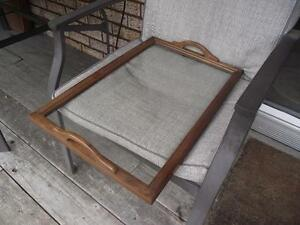GLASS SERVING TRAY FOR ANTIQUE TEA WAGON Peterborough Peterborough Area image 2