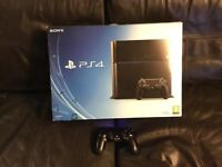 PLAYSTATION 4 Slim PS4 500gb CONSOLE WITH CONTROLLER and LAST OF US boxed