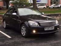 2008 MERCEDES C200 SE * SALOON * MANUAL * BLACK * FULL HISTORY * 1 YEAR MOT * PART EX * DELIVERY *