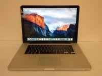 Macbook 15 inch apple mac Pro laptop Intel 2.66ghz processor 750gb hard drive