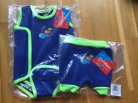 Baby wetsuit and swim trunks-brand new in bag