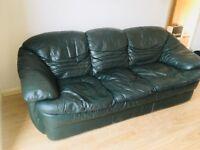 Leather 3 seater sofa