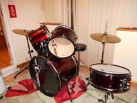 Black Rat Professional Drum Kit - Remo Skins