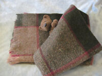Super warm Merino wool blanket for throw, bedroom or cover