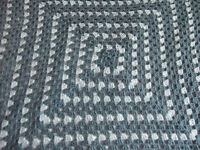 Crocheted cute baby blanket