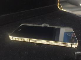 Apple I phone 5s 16gb unlocked custom gold plated with sworvoski crystals