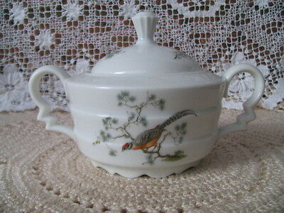 Vintage Fine German Porcelain Sugar Bowl - Roseuthal Bavaria, Madeleine