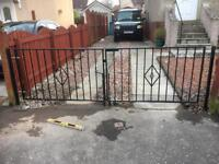 Driveway gates , handrails and fences