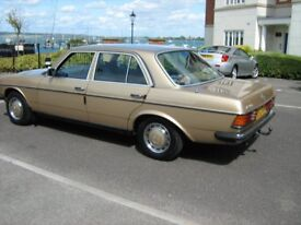 1984 Reg Mercedes 230e auto Reg B52 UKM illness have to sell after 15 years 100 % reliability