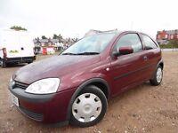 Vauxhall Corsa Club 1.0 BARGAIN 2003 CHEAP INSURANCE!!!!