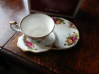 Royal Albert Old Country Roses Cup and sandwich plate - boxed