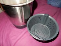 BOWL WITH HANDLE for Vorwerk Thermomix TM5 BLADE, BASKET,