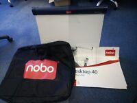 Nobo Desktop Magnetic Easel Whiteboard with Flipchart