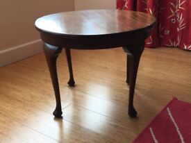 "Sweet, round side or coffee table 23 3/4"" diameter, 16"" tall (60, 41cm)"
