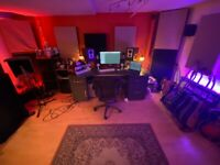 £60 for 7pm-7am. £80 all day&night. Colourful, spacious recording studio/writing/production room