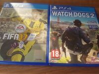 Ps4 games fiffa 17 and watchdogs 2