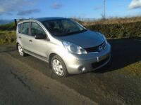 2012 nissan note 1.5 dci tdiesel 5dr silver 40k full sh 1owner Lins£20 t