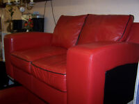 RED LEATHER SOFAS FOR SALE