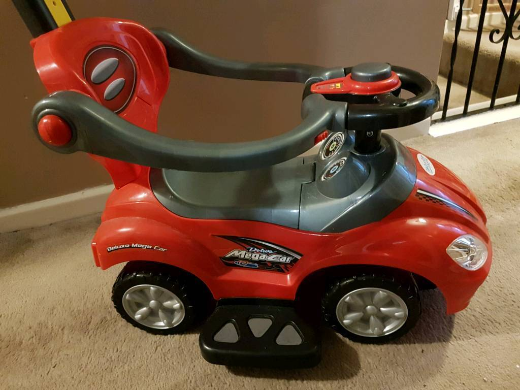 Red toddler toy car 3 in 1