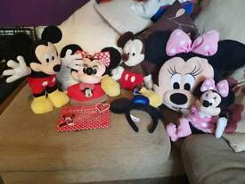 Mickey & Minnie mouse soft toy items