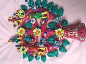 Mexican Tree of Life gift hand made ceramic