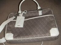 ( New with tag ) DKNY monogram laptop bag / crossbody / messanger bag £60