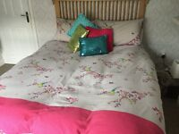 Double size bedding includes cushions