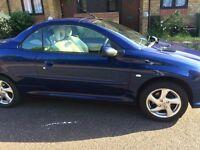For Sale - Peugeot 206 Convertible - Fantastic Summer Car, low milage, good runner, lovely blue!