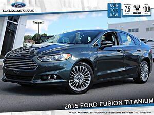 2015 Ford Fusion **TITANIUM*AWD*CUIR*TOIT*NAVI*CAMERA*CRUISE*A/C