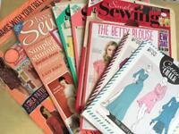 Bundle of Sewing magazines, Simply Sewing, Make it Today and Love Sewing