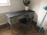 Desk distressed vintage look