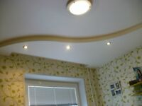 Tiles, laminate, curly ceilings and walls, wallpapers, painting.