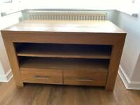 Solid oak TV stand/sideboard