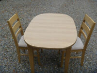 Glenwood Furniture dining room table and 2 chairs