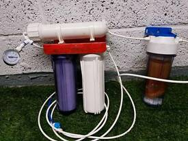 3 stage to water filter.